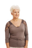 Portrait of and old, casual woman. Royalty Free Stock Photography