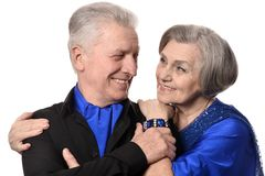 Portrait of an old couple Royalty Free Stock Photos