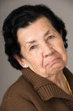 Portrait of old cranky woman grandmother Royalty Free Stock Images