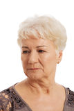 Portrait of an old, elderly lady. Royalty Free Stock Image