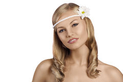 Portrait of old fashion shot of blond Royalty Free Stock Image