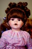 Portrait of Old Fashioned Porcelain Doll Royalty Free Stock Images
