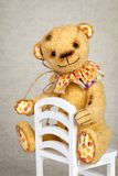 Portrait of old fashioned teddy bear Royalty Free Stock Photo
