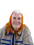 Portrait of the old grandmother Stock Photos