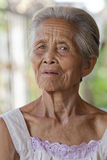 Portrait old grey haired woman, Asia Stock Photography