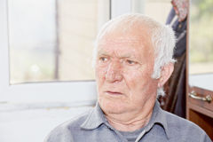 Portrait of old hoary man Royalty Free Stock Photography