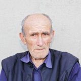 Portrait of old hoary man Royalty Free Stock Photo