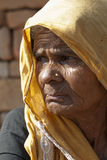 Portrait of old indian woman Royalty Free Stock Photos