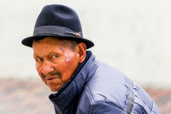 Portrait Of An Old Indigenous Man Royalty Free Stock Photo