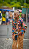 Portrait of an old Indonesian woman in Jogjakarta, Indonesia Stock Photo
