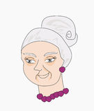 portrait of an old lady Stock Images