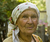 Portrait of old lady Stock Photography