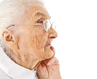 Old ladys portrait Royalty Free Stock Image