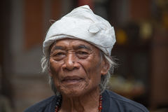 Portrait old man in Bali island. Indonesia Stock Photos
