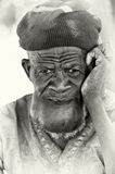 A portrait of an old man from Ghana Royalty Free Stock Photo