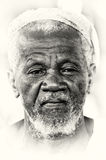 A portrait of an old man from Ghana Royalty Free Stock Photos