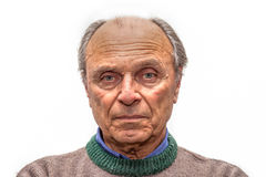 Portrait of an old man. With gray eyes Stock Photo