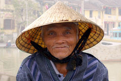 The portrait of the old man. Hoi An, Royalty Free Stock Images