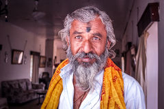 Portrait Old Man India Royalty Free Stock Photos