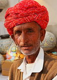 PORTRAIT OF A OLD MAN FROM JODHPUR, RAJASTHAN, INDIA. PORTRAIT OF A OLD MAN FROM JODHPUR, RAJASTHAN Royalty Free Stock Photography