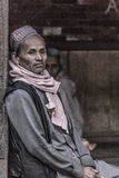 Portrait of an old man meditating Royalty Free Stock Photo