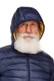 Portrait of an old man with a white beard Royalty Free Stock Photo