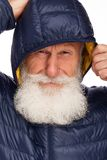 Portrait of an old man with a white beard Royalty Free Stock Photos
