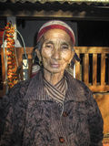 Portrait of old nepalese woman Royalty Free Stock Photos