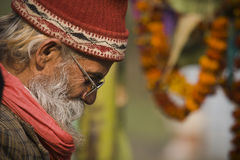 Portrait of an old nepali man, Nepal Royalty Free Stock Photography