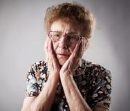 Portrait old sad woman Royalty Free Stock Image