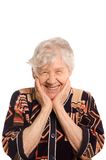 Portrait of the old smiling woman Royalty Free Stock Photo
