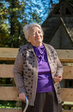 Portrait of old smiling woman Royalty Free Stock Image