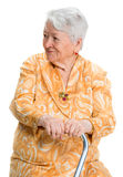 Portrait of old smiling woman Stock Photo