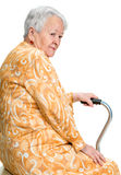 Portrait of old smiling woman Stock Photography