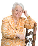 Portrait of old smiling woman Stock Images
