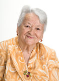 Portrait of old smiling woman Royalty Free Stock Photo