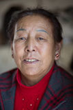 Portrait of an old Tibetan woman Royalty Free Stock Image