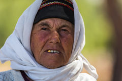 Portrait of old Turkish woman Royalty Free Stock Photos