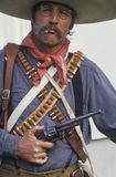 Portrait of Old West gunslinger participant Stock Image