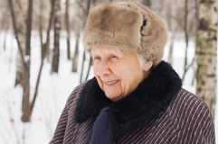 Portrait of the old woman Royalty Free Stock Photo