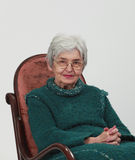 Portrait of an old woman Stock Photo