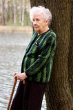 Portrait of the old woman Royalty Free Stock Photos
