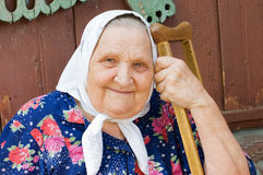 Portrait of the old woman Royalty Free Stock Photography