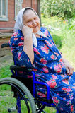 Portrait of the old woman Stock Photos