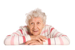 Portrait of the old woman Royalty Free Stock Image