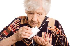 Portrait of old woman Stock Photos