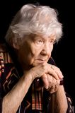 Portrait of old woman Royalty Free Stock Image