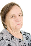 Portrait of an old woman Royalty Free Stock Image