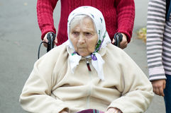 Portrait of the old woman. Royalty Free Stock Image