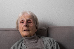 Portrait of an old woman Royalty Free Stock Photography